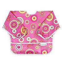Bumkins Sleeved Bib Pink Fizz For Baby