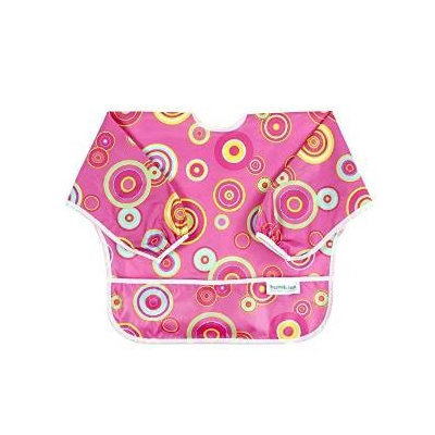Bumkins Sleeved Bib Pink Fizz For Baby