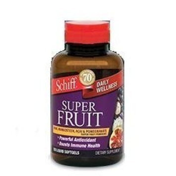 Schiff Super Fruit Schiff Daily Wellness Super Fruit (Noni, Mangosteen, ACAI & Pomegranate) 150 liquid softgels