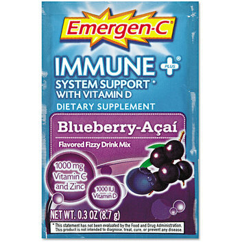 Emergen-C Immune + System Support with Vitamin D Blueberry-Acai