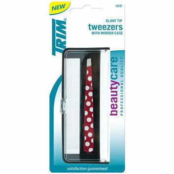 Trim Slant Tip Tweezers with Mirror Case