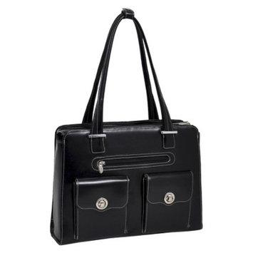 Mcklein W Series Verona Leather Checkpoint Friendly Ladies Briefcase Blac