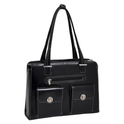 Mcklein W Series Verona Leather Checkpoint Friendly Ladies Briefcase Blac