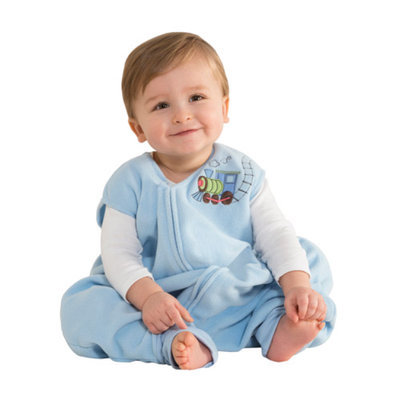 HALO Innovations, Inc. HALO SleepSack Early Walker Blue Train Microfleece