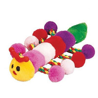 Pet Lou Colossal Caterpillar 22 inch Plush Chew Toy For Dogs