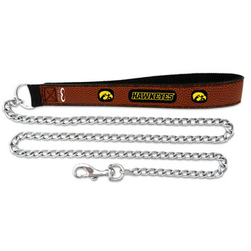 Game Wear Inc NCAA Iowa Hawkeyes Chain Dog Leash LG