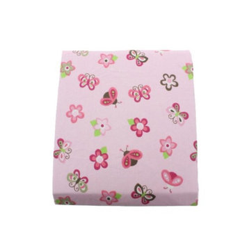 Tiddliwinks Raspberry Garden Baby Crib Fitted Sheet