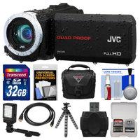 JVC Everio GZ-R70 Quad Proof Full HD Digital Video Camera Camcorder with 32GB Card + Case + LED Light + Flex Tripod + Kit