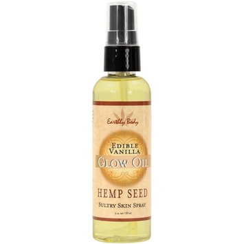 NV Earthly Body Edible Glow Massage Oil - 3 Oz Vanilla