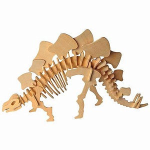 Puzzled Stegosaurus Wooden Puzzle Ages 5 and up