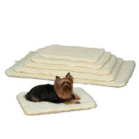 Petedge ZA427 35 55 Slumber Pet Dbl Sided Sherpa Mat Med/Lrg Natural