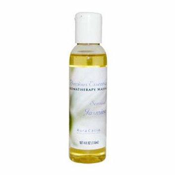 Aura Cacia Aromatherapy Sensual Massage Oil Jasmine 4 fl oz