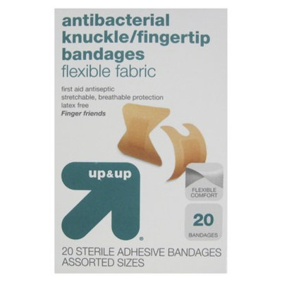 up & up up&up Knuckles/Fingertips Flexible Fabric Bandages - 20 Count