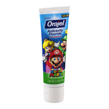 Orajel Anticavity Fluoride Toothpaste Super Mario Star Berry