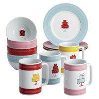Cake Boss Novelty Serveware 12-Piece Complete Mini Cake Dessert Set