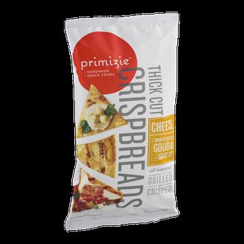 Primizie Crispbreads Thick Cut Cheese Smoked Dutch Gouda Garlic