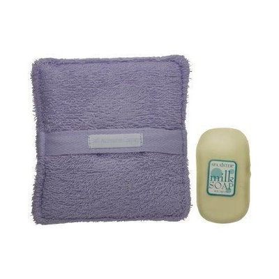 Spa Sister Terry Bath Sponge with Milk Soap Blue