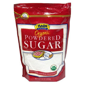 Hain Pure Foods Organic Powdered Sugar, 16-Ounce Units (Pack of 6)