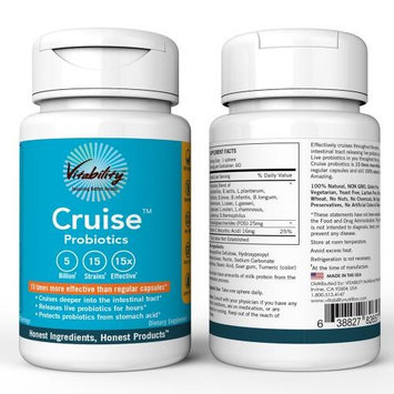 Cellbatt Vitability Cruise Probiotics; 60 Servings Dietary Supplement; Releases Live Probiotics For Hours And