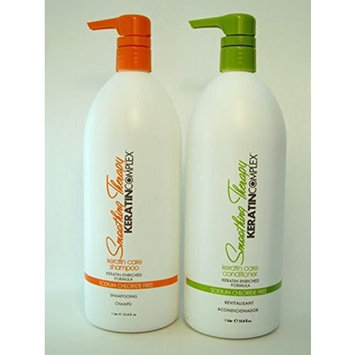 Coppola Keratin Complex Smoothing Therapy Keratin Care Shampoo & Conditioner Liter Duo