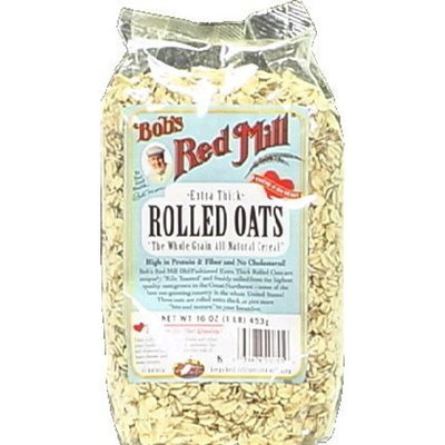 Bob's Red Mill Rolled Oats Thick 16.0 OZ (Pack of 2)