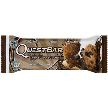 Quest Bar Double Chocolate Chunk Protein Bar, 2.12 oz, (Pack of 12)