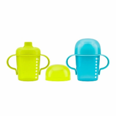 Boon SIP Sippy Soft Spout, Green/Blue, 2 ea