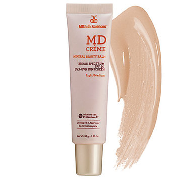 MDSolarSciences MD Creme Mineral Beauty Balm Broad Spectrum Sunscreen, SPF 50, Light/Medium, 1.23 oz