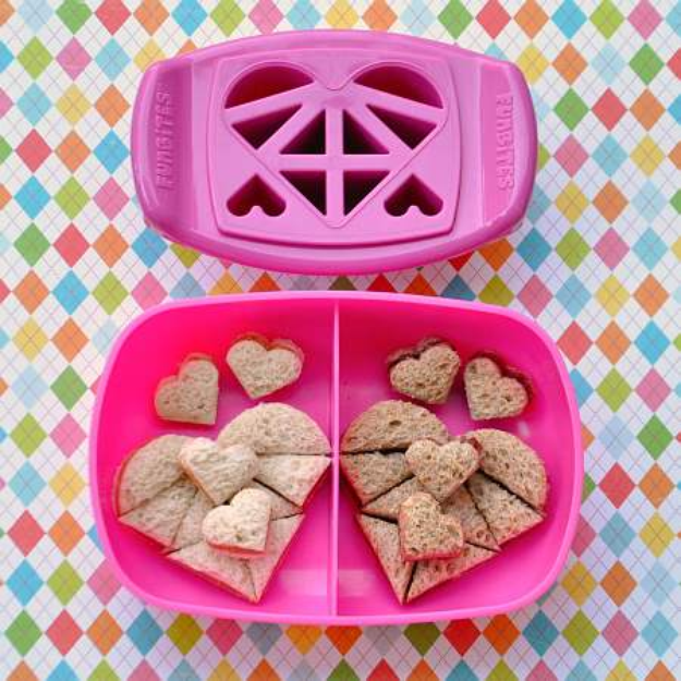 FunBites Heart Food Cutter, Pink, 1 ea
