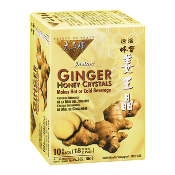 Prince Of Peace Honey Crystals Instant Ginger - 10 CT