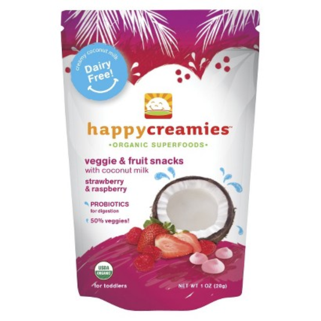 Happy Baby Organic Baby Food Strawberry/Carrot/Raspberry Creamies 1oz