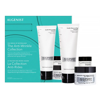 Algenist The Anti-Wrinkle Collection: Gentle Rejuvenating Cleanser 120ml + Regenerative Anti-Aging Moisturizer 30ml + Ey