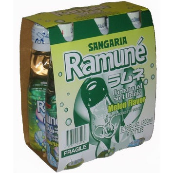 Sangaria Ramune Marble Soft Drink Melon Flavor 6 Pack