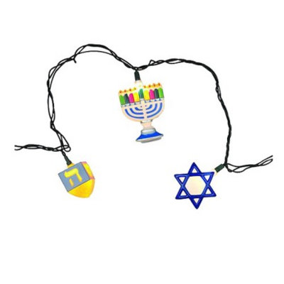 Core Distribution 8ct Hanukkah Shapes String Lights