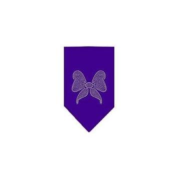 Ahi Bow Rhinestone Bandana Purple Large