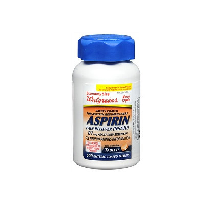 Walgreens Aspirin Adult Low Strength Safety Coated Tablets 81 mg