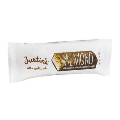 Justin's Almond Milk Chocolate, Almonds, Caramel, Nougat Bar