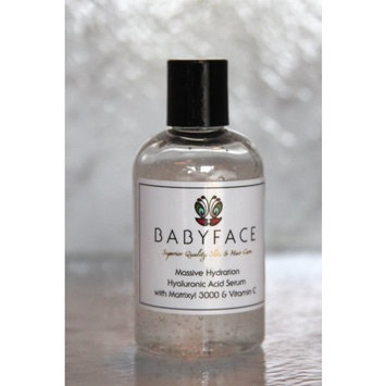 Babyface Refill Massive Hydration Hyaluronic Acid Serum with Vitamin C & Matrixyl 3000 - 4.2 oz.