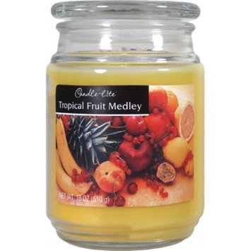 Candlelite Candle-lite Essentials 18-Ounce Terrace Jar Candle, Tropical Fruit Medley