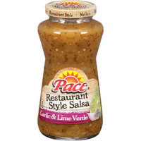 Pace Garlic & Lime Verde Restaurant Style Medium Salsa, 16 OZ (Pack of 6)