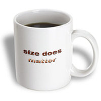 Recaro North 3dRose - Funny Quotes And Sayings - Size does matter - 15 oz mug