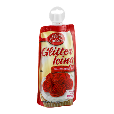 Betty Crocker Glitter Icing Shimmering Red