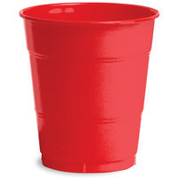 Creative Expressions 12-Oz. Premium Plastic Cups - 20-Pack, Classic Red