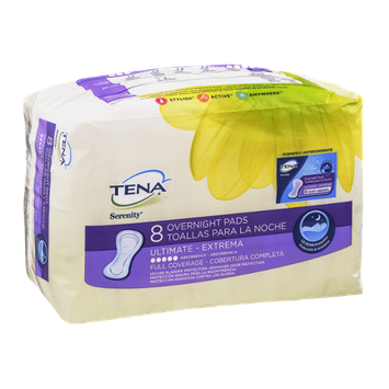 Tena Serenity Overnight Pads Ultimate - 8 CT