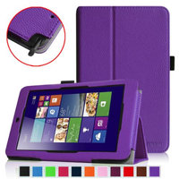 Fintie Folio Leather Case Cover for ASUS VivoTab Note 8 M80TA Tablet (Windows 8.1), Violet