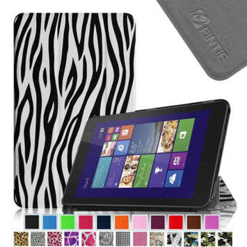 Fintie Slim Shell Leather Case for New Dell Venue 8 (2014 Version) 8-Inch Android Tablet, Zebra Black