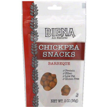 Biena All Natural Barbeque Chickpea Snacks, 2 oz, (Pack of 12)