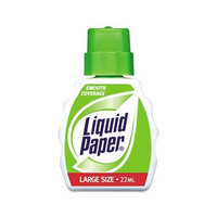 Liquid Paper Smooth Coverage Correction Fluid, 22 Milliliter Bottle, White, 12/Pack (5630115)