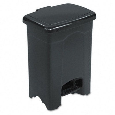 Safco Black 4 Gallon Step-On Plastic Receptacle