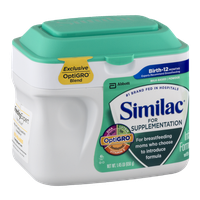 Similac For Supplementaion Infant Formula with Iron Birth-12 Months